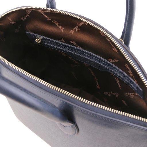 TL KeyLuck Borsa a mano in pelle Saffiano - Misura piccola Blu scuro TL141265