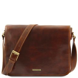 Messenger double Freestyle - Borsa in pelle Marrone TL90475