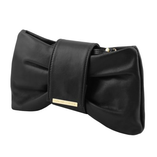Priscilla Clutch leather handbag Black TL141801