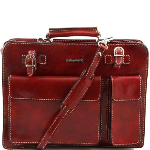Venezia Leather briefcase 2 compartments Red TL10020