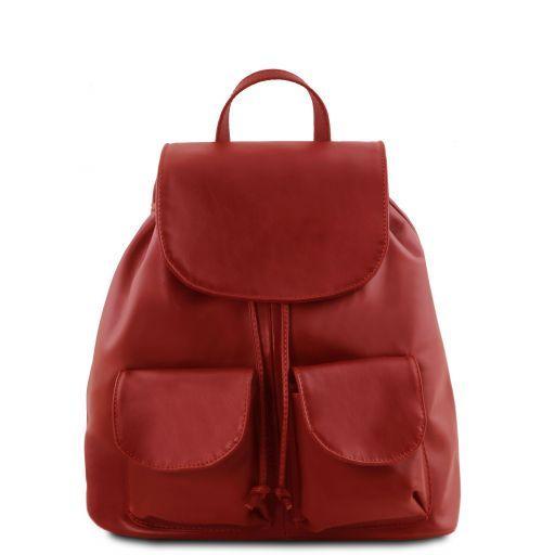 Seoul Рюкзак из мягкой кожи - Малый размер Красный TL141508