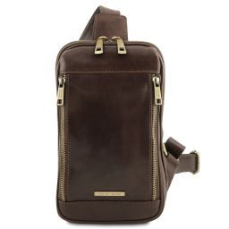 Martin Leather crossover bag Dark Brown TL141536