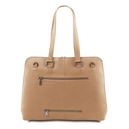 Lucca TL SMART business bag in soft leather for women Champagne TL141630