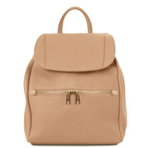 TL Bag Soft leather backpack for women Champagne TL141697