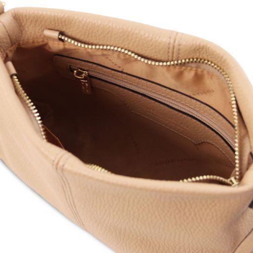TL Bag Bolso con badolera en piel suave Champagne TL141720