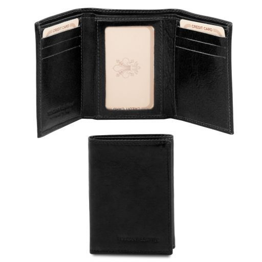 Elegante cartera de señor en piel Negro TL140801