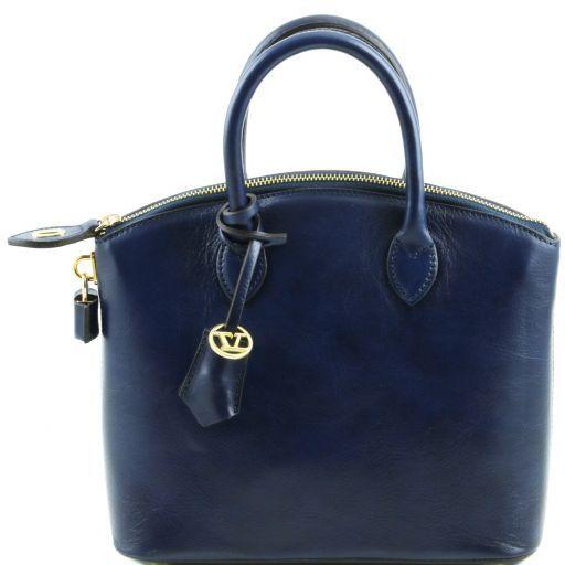 TL Bag Sac cabas en cuir - Petit modèle Bleu foncé TL141264