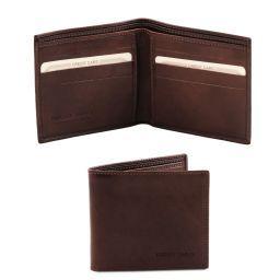 Esclusivo portafoglio uomo in pelle 2 ante Testa di Moro TL140797