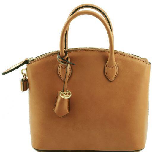 TL Bag Borsa shopper in pelle - Misura piccola Cognac TL141264