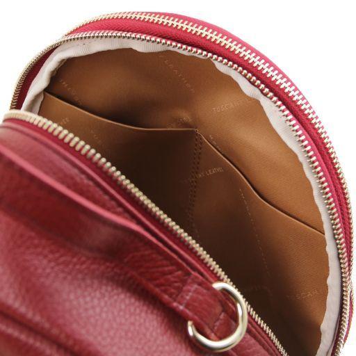 TL Bag Damenrucksack aus Leder Rot TL141743