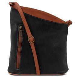 TL Bag Mini Unisex-Schultertasche aus weichem Leder Schwarz TL141111