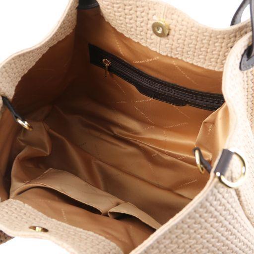 TL KeyLuck TL SMART Tasche aus geprägtem Leder - Gross Beige TL141568