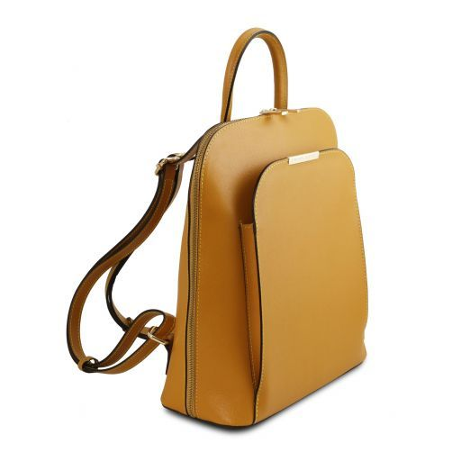 TL Bag Saffiano leather backpack for women Горчичный TL141631
