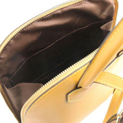 TL Bag Sac à dos pour femme en cuir Saffiano Moutarde TL141631