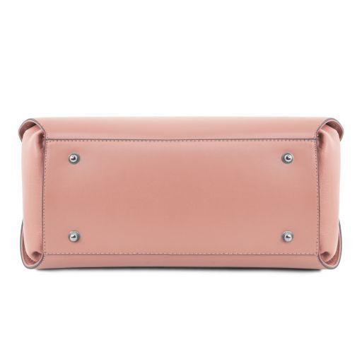 Flora Leather handbag Ballet Pink TL141694