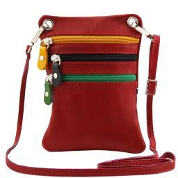 TL Bag Soft leather mini cross bag Red TL141094