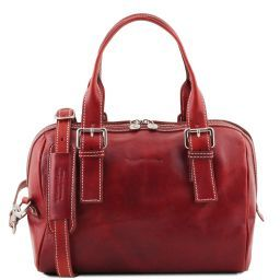 Eveline Leather duffle bag Red TL141714