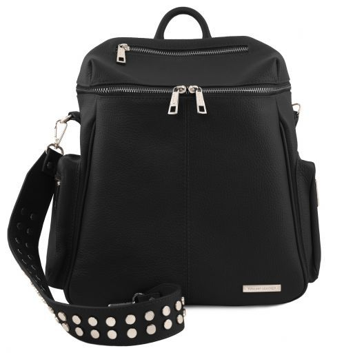 TL Bag Soft leather backpack for women Black TL141747
