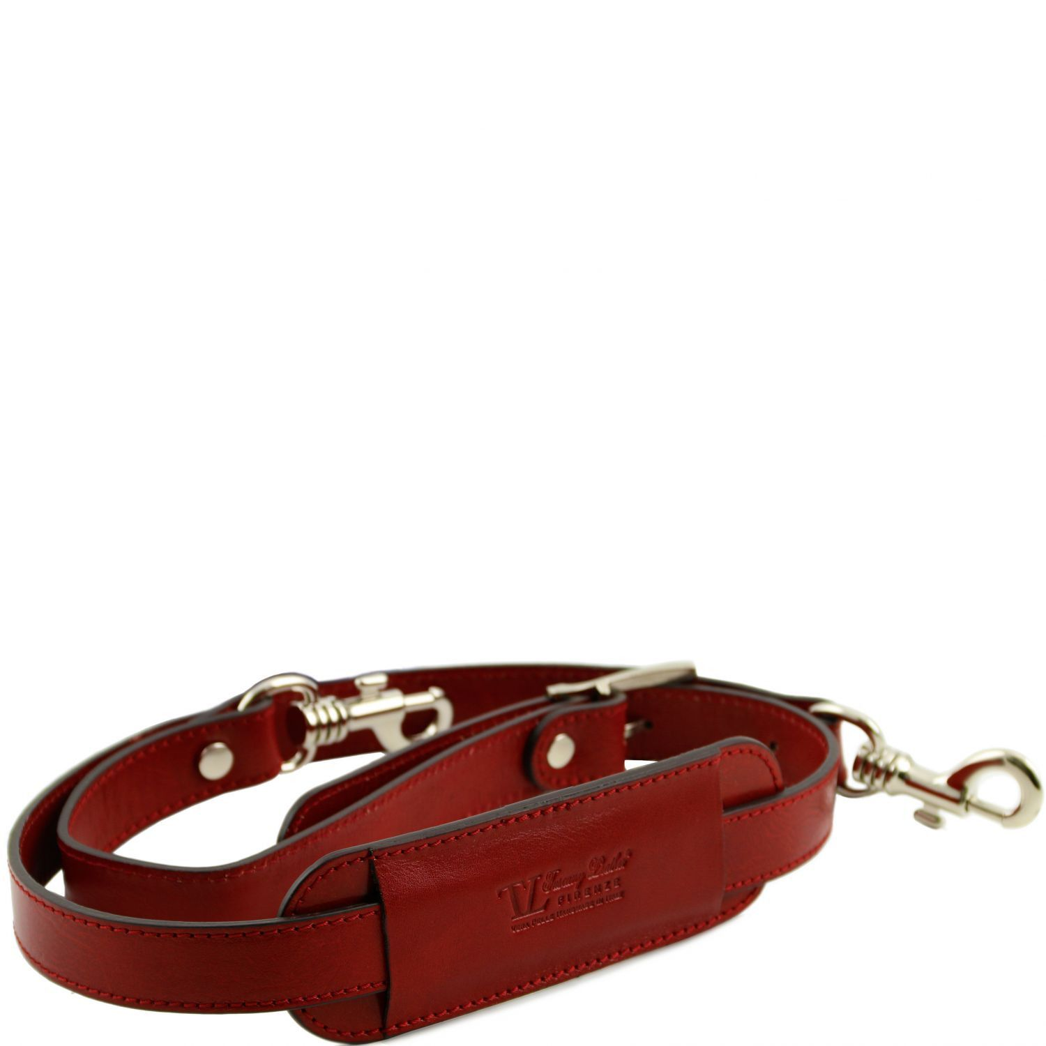 Bilde av Adjustable leather shoulder strap Red