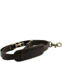 TL Voyager Adjustable leather shoulder strap Dunkelbraun SP141276