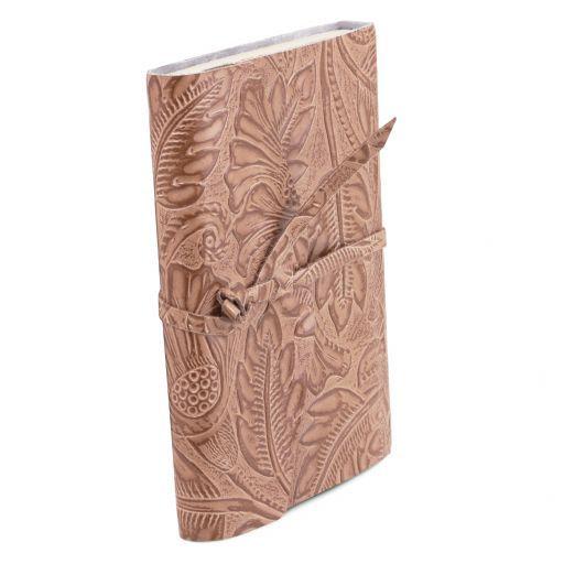 Diario di viaggio in pelle stampa floreale Nude TL141672