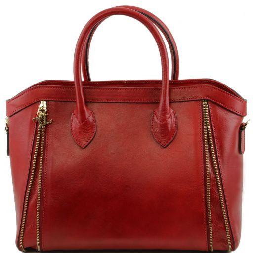 TL Bag Borsa a mano con zip frontali Rosso TL141279
