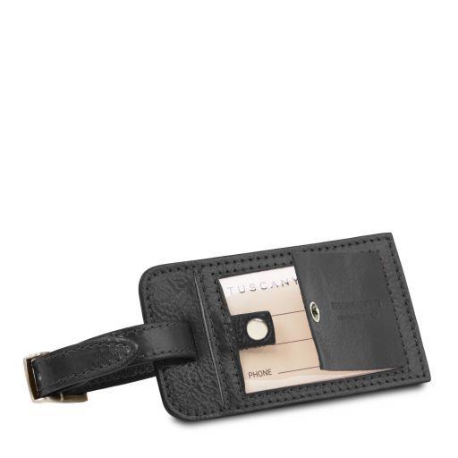 Etiqueta en piel para maletas Negro TLTAG