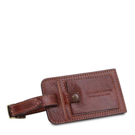 Etiquette de bagage en cuir Marron TLTAG