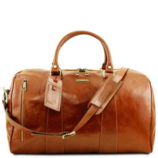 TL Voyager Weekender Reisetasche aus Leder - Gross Honig TL141794