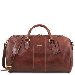 Lisbona Дорожная кожаная сумка-даффл - Большой размер Коричневый TL141657