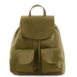 7994e96dec Seoul Sac à dos en cuir Grand modèle Vert Olive TL141507 ...