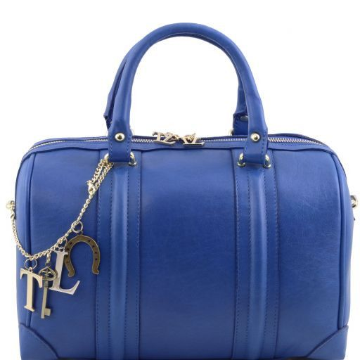 TL KeyLuck Bauletto in pelle morbida con accessori color oro Blu TL141284