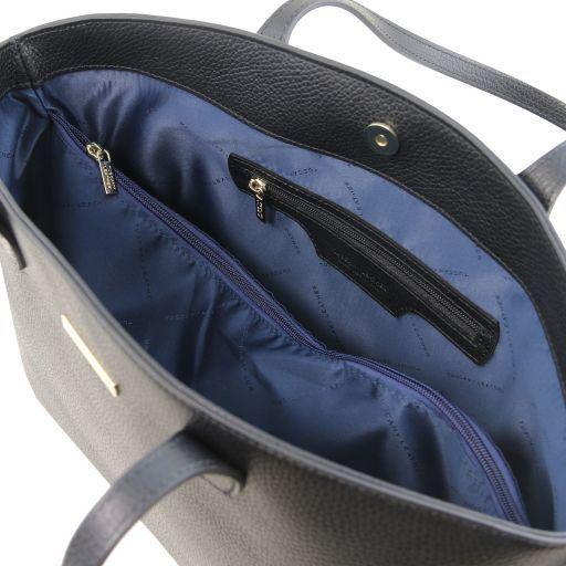 TL Bag Bolso tote en piel morbida Negro TL141828