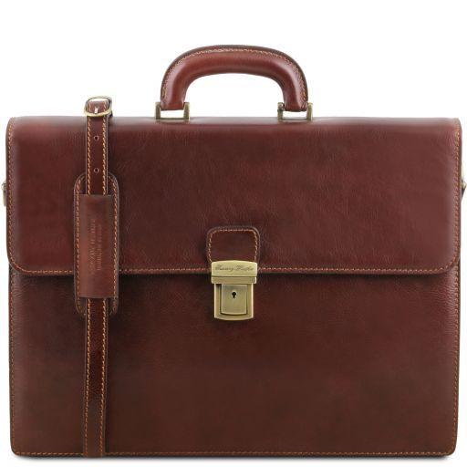 Parma Кожаный портфель на 2 отделения Коричневый TL141350