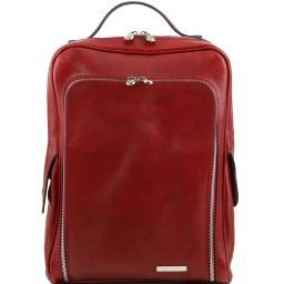 Bangkok Leather laptop backpack Red TL141289