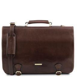 Ancona Messenger Tasche aus Leder Dunkelbraun TL141853