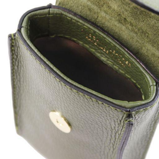 TL Bag Tracollina Portacellulare in pelle Verde Oliva TL141865