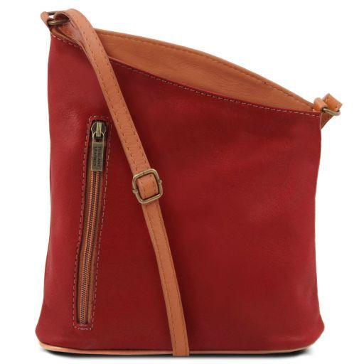 TL Bag Сумка-мини унисекс через плечо из мягкой кожи Красный TL141111