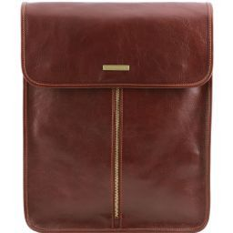 Exclusive leather shirt case Brown TL141307