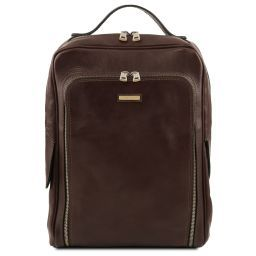 Bangkok Leather laptop backpack Dark Brown TL141793