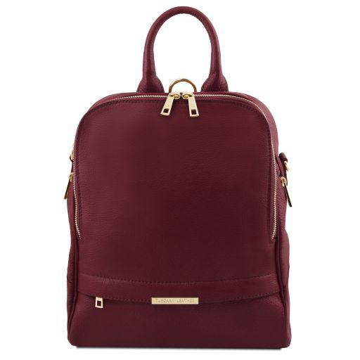 TL Bag Lederrucksack für Damen aus weichem Leder Bordeaux TL141376