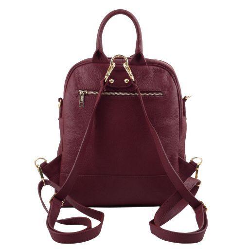 TL Bag Sac à dos pour femme en cuir souple Bordeaux TL141376