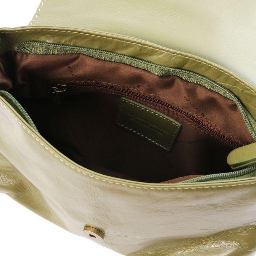 TL Bag Borsa morbida a tracolla con nappa Verde Oliva TL141223