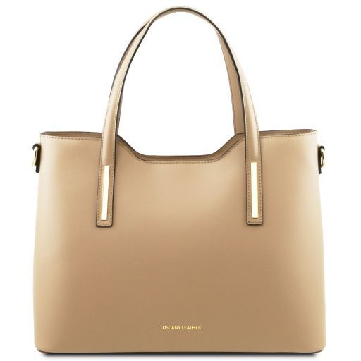 Olimpia Leather tote Champagne TL141412