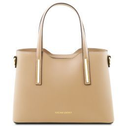 Olimpia Leather tote - Small size Champagne TL141521