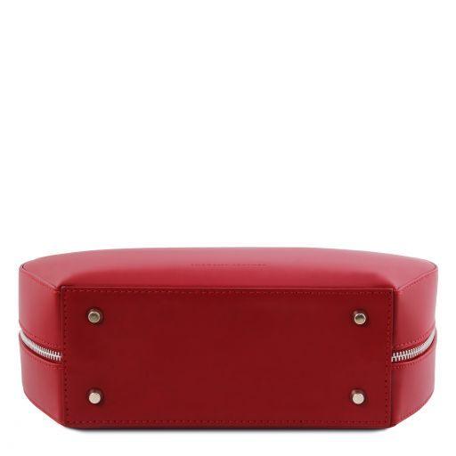 Ninfa Bauletto rotondo in pelle Rosso TL141872
