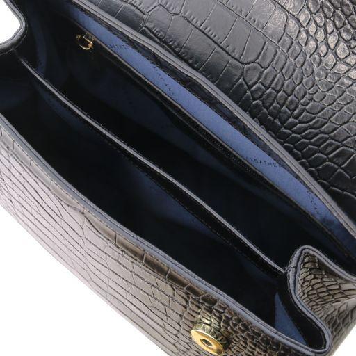 TL Bag Petite Sac bauletto en cuir effet croco Noir TL141887
