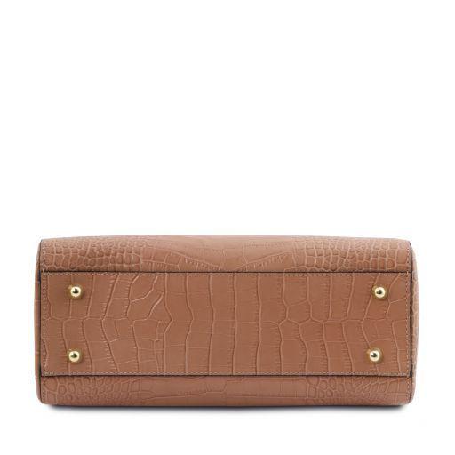 TL Bag Bauletto piccolo in pelle effetto cocco Nude TL141887