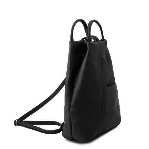 Shanghai Leather backpack Черный TL141881