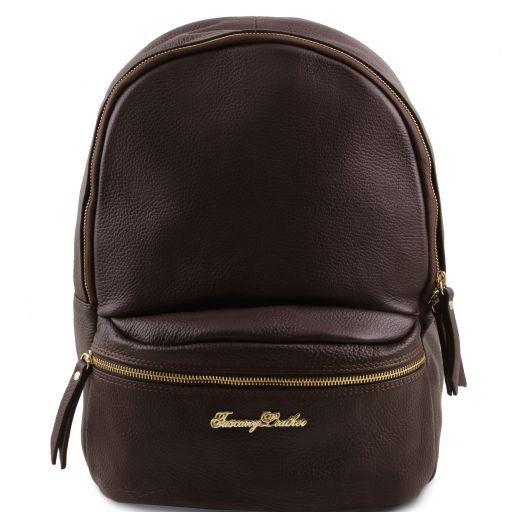 TL Bag Lederrucksack für Damen aus weichem Leder Dunkelbraun TL141320